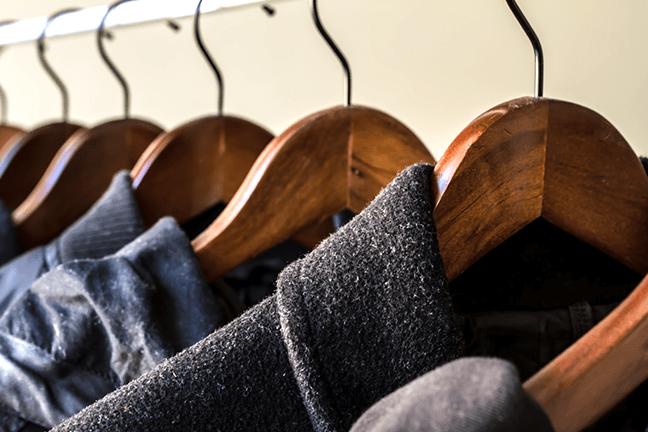 como guardar roupas de inverno.
